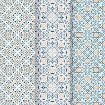 Vlakke sier arabische patrooninzameling Gratis Vector