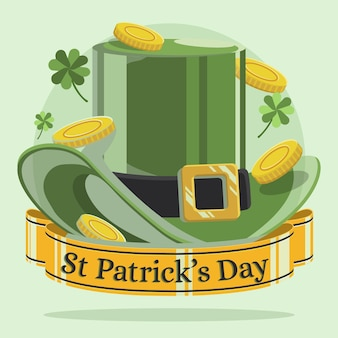 Vlakke st. patrick's day hat illustratie