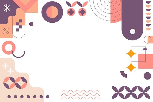 Vlakke stijl abstracte geometrische achtergrond