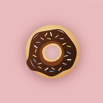 Vlakke stijl donut illustratie