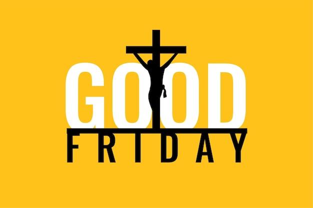 Vlakke stijl goede vrijdag heilige week