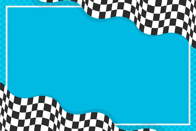 Vlakke stijl racen geruite vlag achtergrond