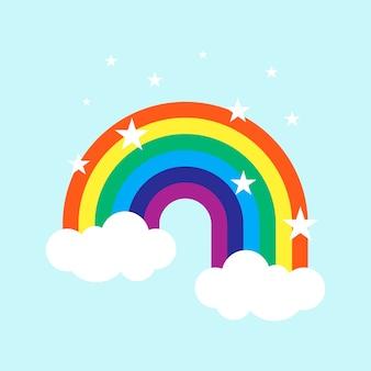 Vlakke stijl regenboog
