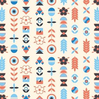 Vlakke stijl scandinavisch ontwerppatroon