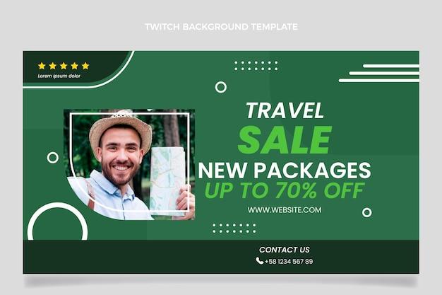 Vlakke stijl verkoop reis twitch achtergrond