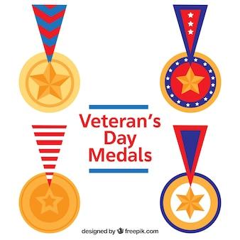 Vlakke veteranen dag medailles