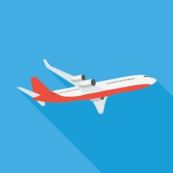 Vlakke vliegtuigillustratie