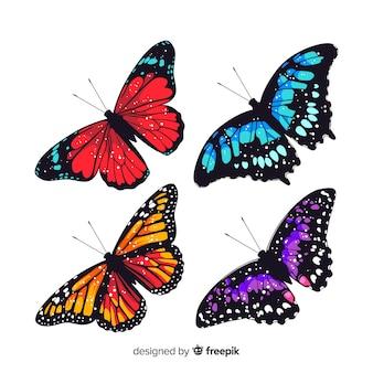 Vlakke vlindercollectie