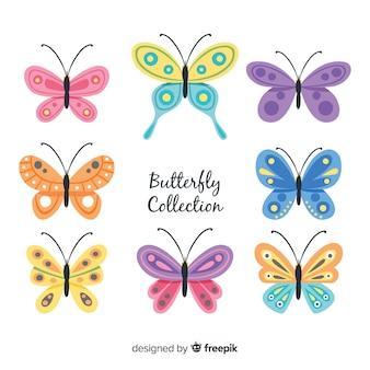 Vlakke vlindersinzameling