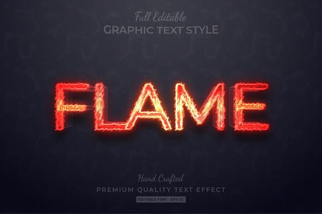 Vlam bewerkbaar tekststijleffect