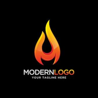 Vlam logo ontwerp