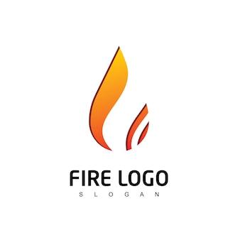 Vlam logo sjabloon
