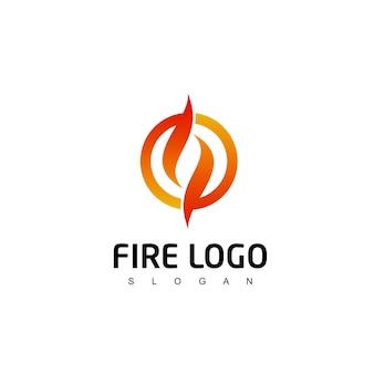Vlam logo vuur symbool