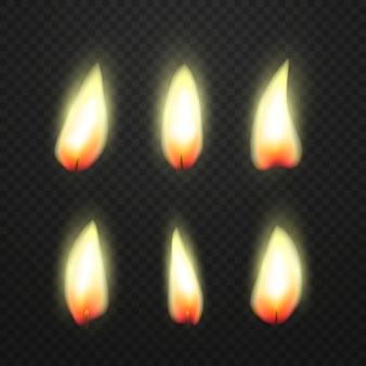 Vlam van kaarsen