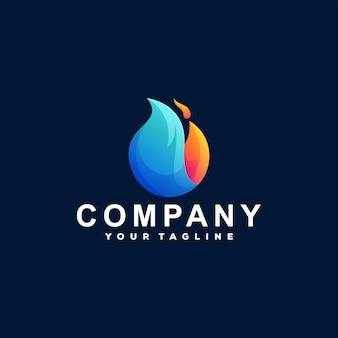 Vlam vuur verloop logo ontwerp