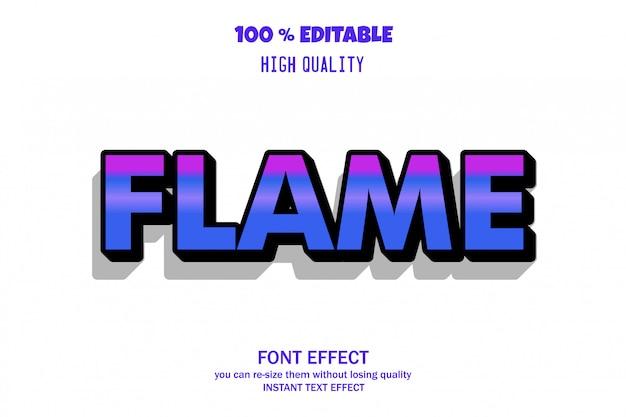 Vlamtekst, bewerkbaar lettertype-effect