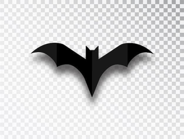 Vleermuis silhouet geïsoleerd op transparante achtergrond. halloween traditioneel ontwerpelement.