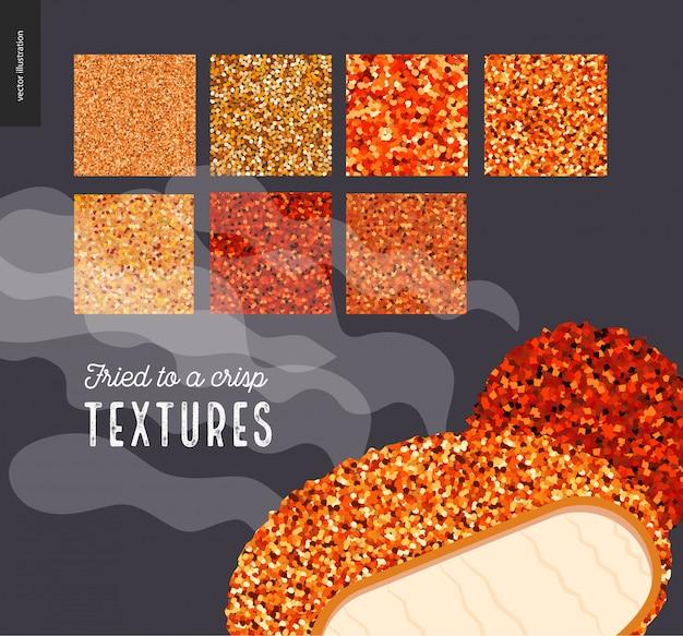 Vlees gefrituurde textuurpatronen