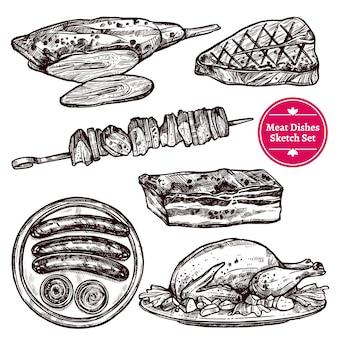 Vleesgerechten set