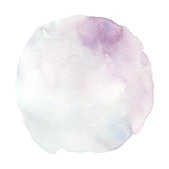 Vlek aquarel penseelvormen met handgeschilderde
