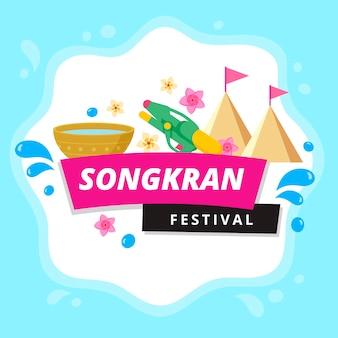 Vlek van water songkran festival