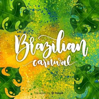 Vlekken braziliaanse carnaval achtergrond