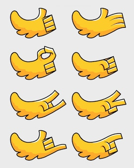 Vleugel handbeeldverhaalgebaar