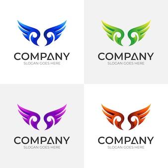 Vleugel logo ontwerpsjabloon