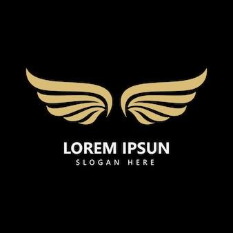 Vleugel logo sjabloon vector pictogram ontwerp