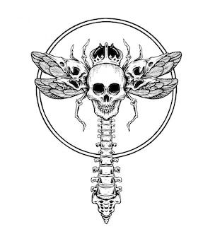 Vlieg door de schedel