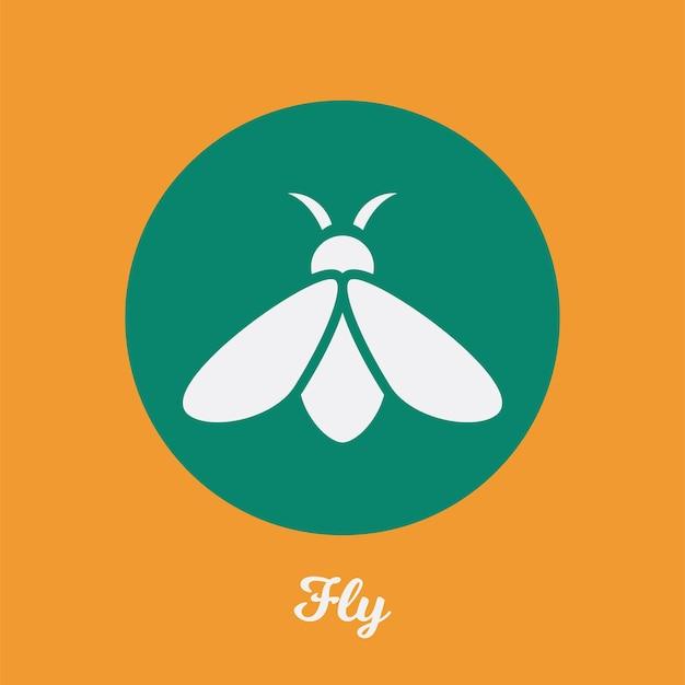 Vlieg plat pictogramontwerp, logo symboolelement