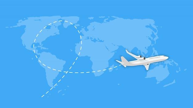 Vliegend vliegtuig express levering verzendkosten concept