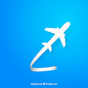 Vliegend vliegtuig silhouet