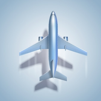 Vliegend vliegtuigsymbool