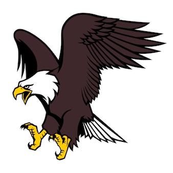 Vliegende adelaar mascotte
