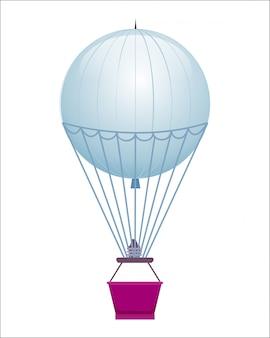 Vliegende ballon geïsoleerde pictogram