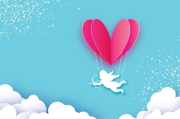 Vliegende cupido - kleine engel.