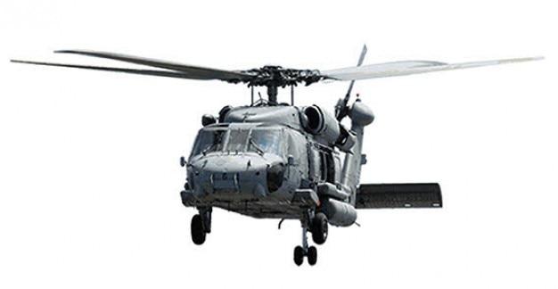 Vliegende helicopter vector