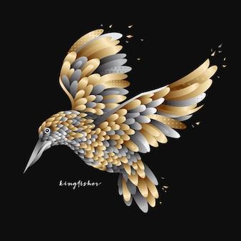 Vliegende ijsvogel