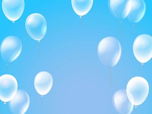 Vliegende lucht ballonnen in een lucht.