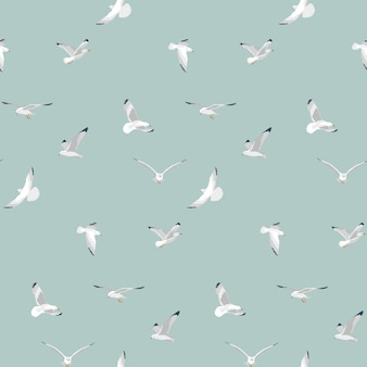 Vliegende mariene meeuwen patroon
