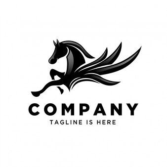 Vliegende pegasus springen logo