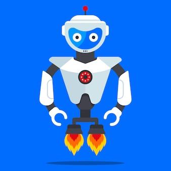 Vliegende robot uit de toekomst