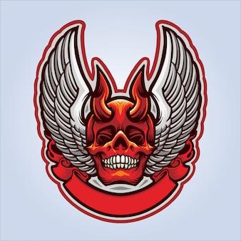 Vliegende schedel demon