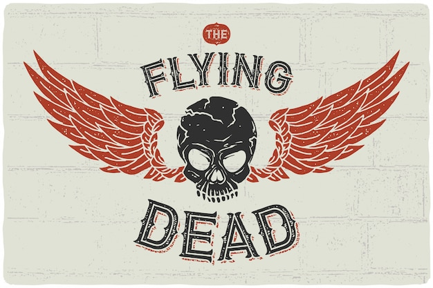 Vliegende schedel poster