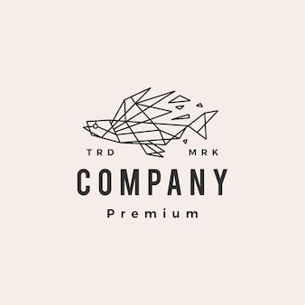 Vliegende vis geometrische hipster vintage logo