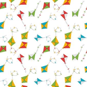 Vlieger naadloze patroon achtergrond vectorillustratie