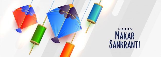 Vliegers en spoel van touw voor makar sankranti festival
