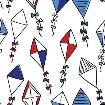 Vliegers naadloze patroon