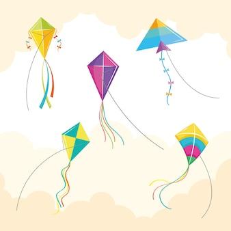 Vliegers symbool groep